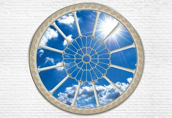 Sky Ornamental Window View Fototapeta