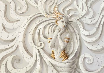 Fototapeta Socha ženy - bohyně, medúza 312x219 cm - 130g/m2 Vlies Non-Woven