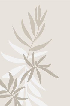 Solid greenery in neutrals Fototapeta