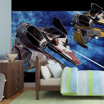 Fototapeta Star Wars Obi Anakin Jedi Starfighters