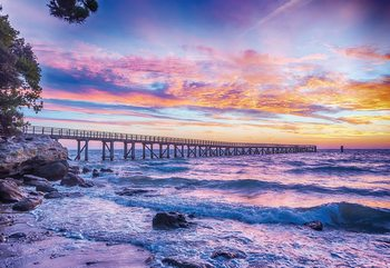 Sunset Beach Pier Fototapeta