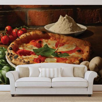 Fototapeta Talianska reštaurácia s potravinami