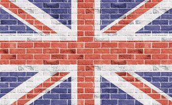 Fototapeta Tehlová stena - Union Jack