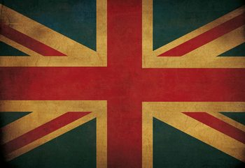 Fototapeta Vintage Flag Uk Union Jack