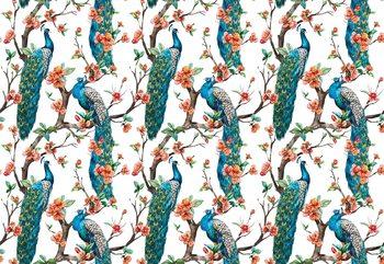 Fototapeta  Vintage Peacock Pattern