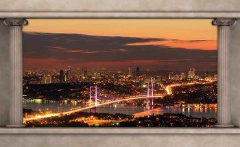 Widok przez kolumny na Istambuł Fototapeta
