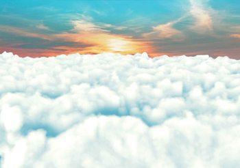 Zachód słońca z chmurami Fototapeta