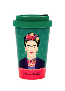 Putna šalica Frida Kahlo - Green Vogue