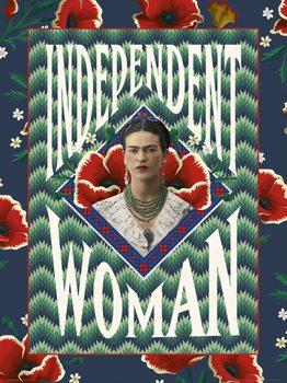Εκτύπωση έργου τέχνης Frida Khalo - Independent Woman