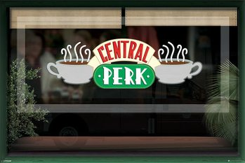 FRIENDS - central perk window - плакат (poster)