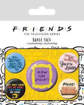 Σετ κονκάρδες Friends - Quotes