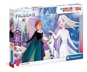 Puzle Frozen, el reino del hielo 2 - Elsa, Anna & Olaf