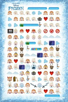 Frozen - Told By Emojis - плакат (poster)