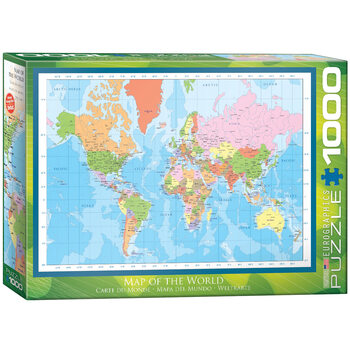 Puzzle Modern Map of the World