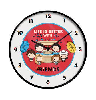 Zegar Przyjaciele - Life Is Better With Friends (Chibi)