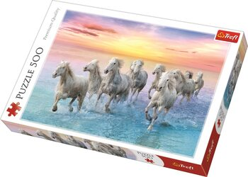 Puzzel Galloping White Horses