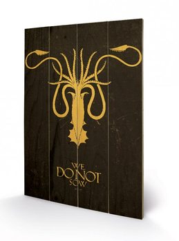 Bild auf Holz Game of Thrones - Grey Joy