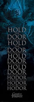 Game of Thrones - Hold the door Hodor - плакат (poster)