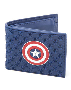 Geldbeutel Captain America Civil War hield Logo Rubber Bifold