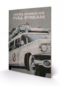 Poster su legno Ghostbusters: Acchiappafantasmi - EctoMobile