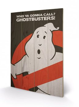 Poster su legno Ghostbusters: Acchiappafantasmi - Logo