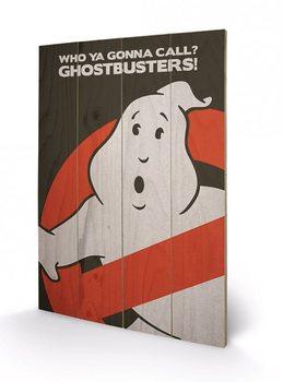 Bild auf Holz Ghostbusters - Logo