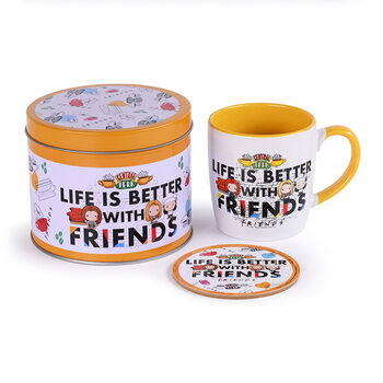 Set cadou Friends - Life Is Better Chibi