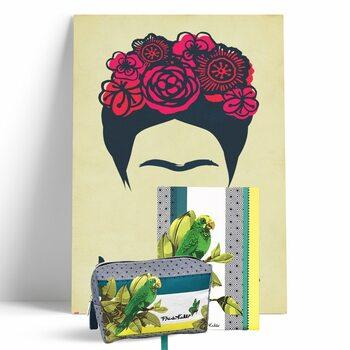 Set regalo Il set regalo include: 1x manifesto (61 x 91,5), 1x A5  taccuino (foderato), 1x  Borsa per cosmetici (12x18x5 cm)