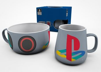 Ontbijtset Playstation - Classic Cadeau set