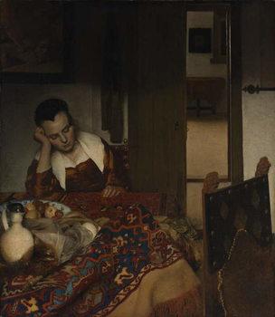 Girl asleep at a table, 1656-57 Festmény reprodukció