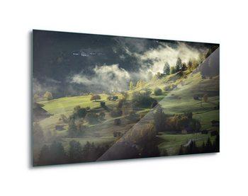 Glasbilder Alpine Morning