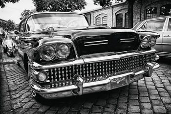 Glasbilder Cars - Black Cadillac