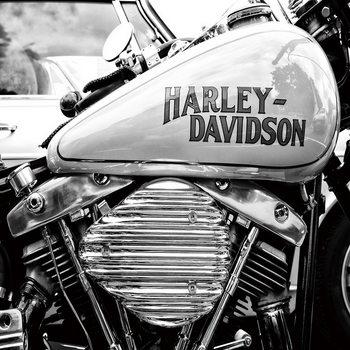 Glasbilder Harley Davidson b&w
