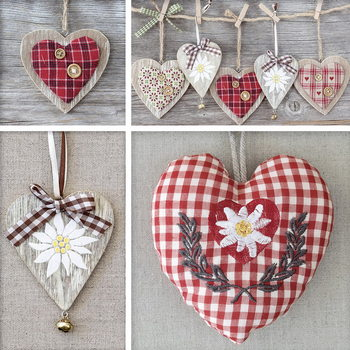 Glasbilder Hearts - Collage
