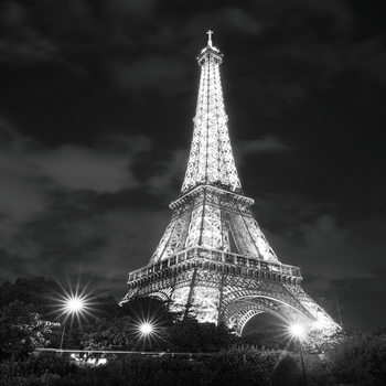 Glasbilder Paris - Eiffel Tower at Night