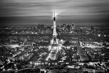 Glasbilder Paris - Eiffel Tower b&w