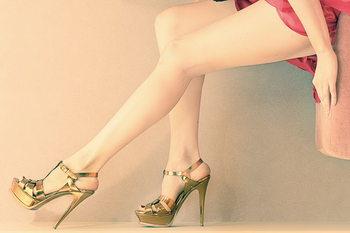 Glasbilder Women love Shoes