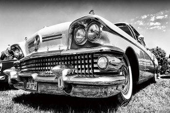 Cars - Retro Cadillac Glassbilder