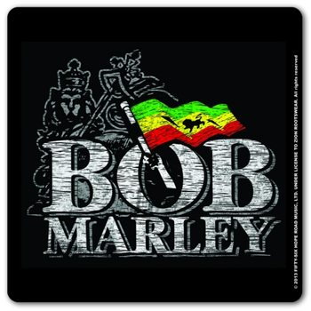 Bob Marley - Distressed Logo Glassbrikke