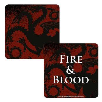 Game Of Thrones - Targaryen Glassbrikke