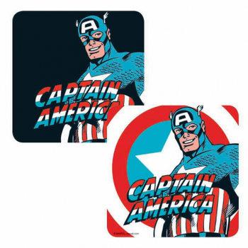 Marvel - Captain America Glassbrikke
