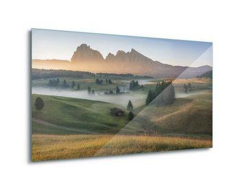 Glasschilderij  Alpine Mist