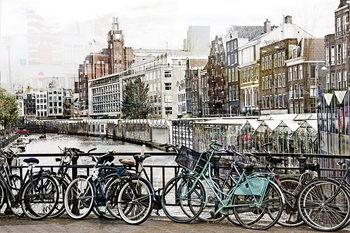 Glasschilderij Amsterdam