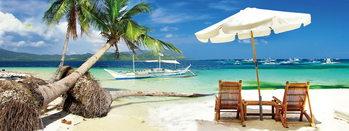 Glasschilderij Dream - Relax on the Beach