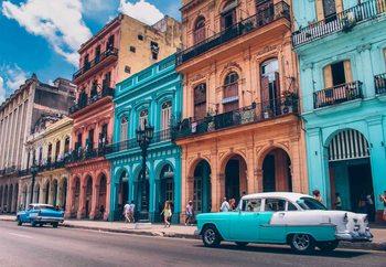 Glasschilderij Havanna Retro