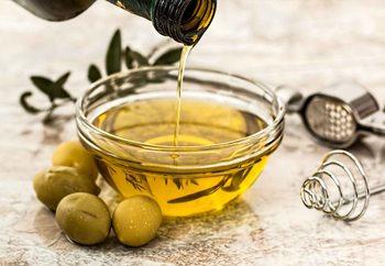 Glasschilderij Olive Oil