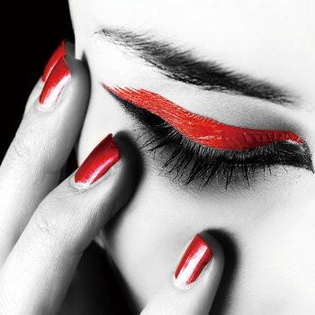 Glasschilderij Passionate Woman - Eye