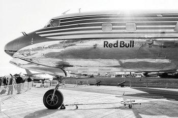 Glasschilderij Plane - Red Bull