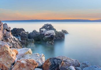 Glasschilderij  Soft Sea