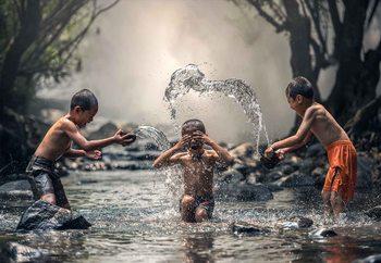 Glasschilderij  Splash